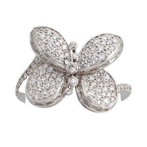 Graff Butterfly Ring with Pave Diamonds RGR559