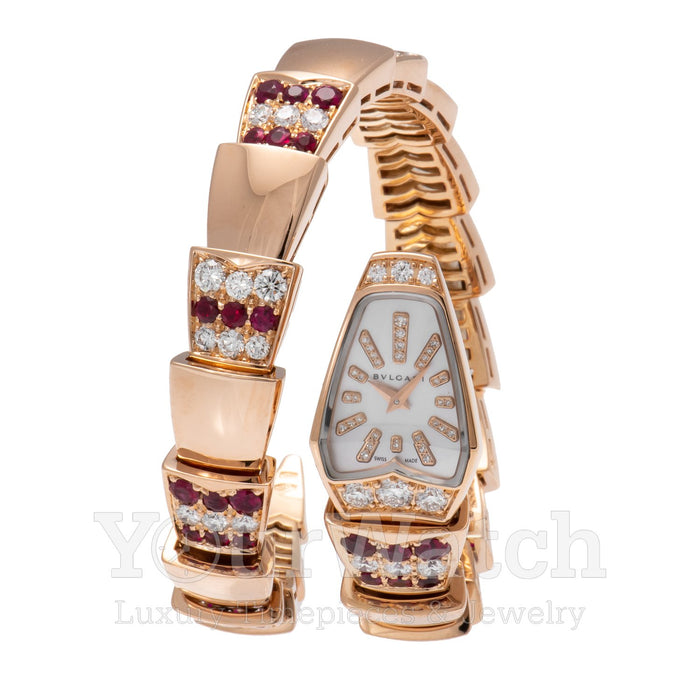 Bvlgari Serpenti Diamond Ruby 26mm Ladies Watch