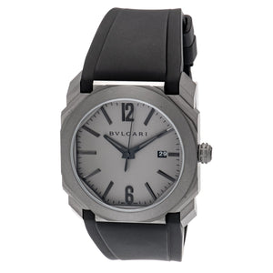 Bvlgari 102858 Octo Solotempo Automatic Grey Dial 41mm Men's Watch
