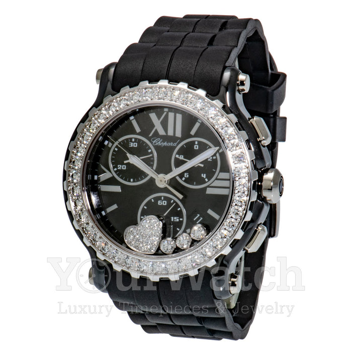 Chopard-Chopard Happy Sport Round Ladies Watch-288515-9011-$18820.00