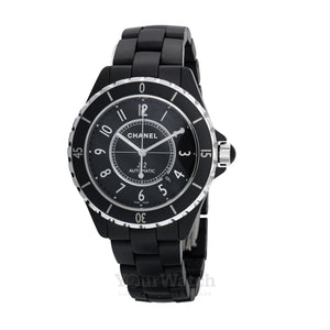 Chanel-Chanel J12 Matte Black Ceramic Automatic Watch-H3131-$3450.00