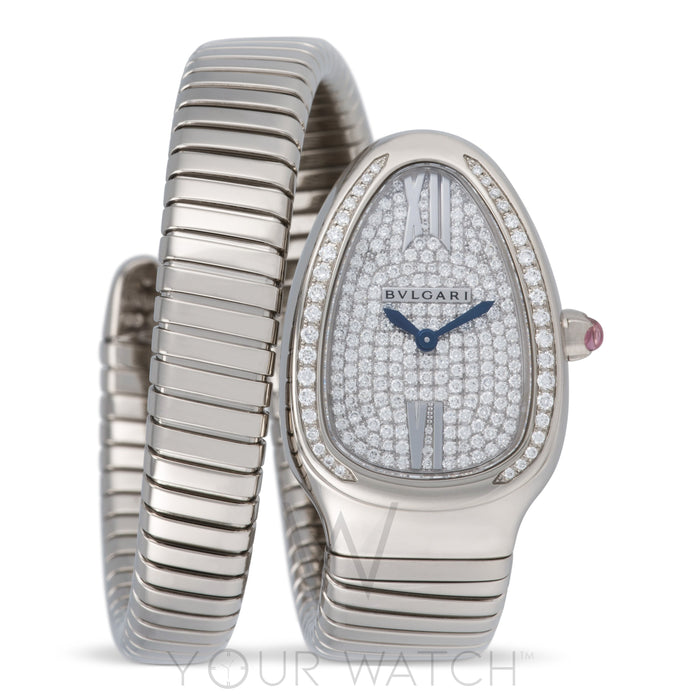 Serpenti Tubogas Diamond Pave Dial Ladies Watch