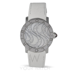 Bvlgari White Mother of Pearl Diamonds Dial Automatic Ladies Watch 102030