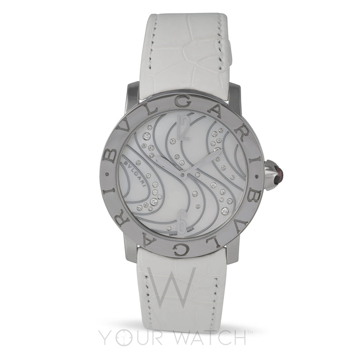 Bvlgari White Mother of Pearl with Diamonds Dial Automatic Ladies Watch