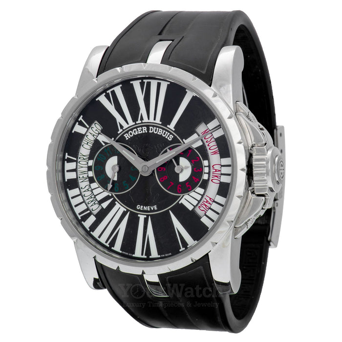 Excalibur Triple Time Zone World Time Watch