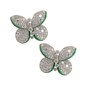 Graff-Butterfly-Diamond-and-Emerald-Stud-Earrings-RGE1259