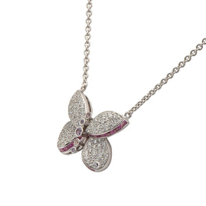 Graff-Baby Princess Butterfly Pendant with Diamonds and Pink and Purple Sapphires-RGP570-$4200.00