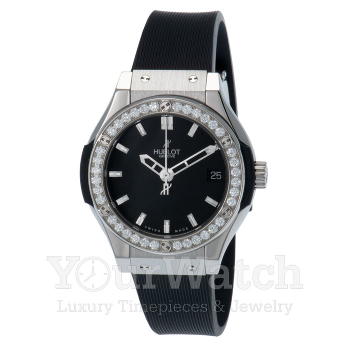 Hublot-Hublot Classic Fusion Quartz Titanium 33mm Ladies Watch-581.NX.1170.RX.1104-$6510.00