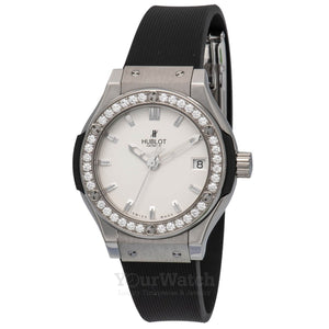 Hublot-Classic-Fusion-33mm-Ladies-Watch-in-Titanium-with-Diamond-Bezel-581NX2610RX1104-Yourwatch