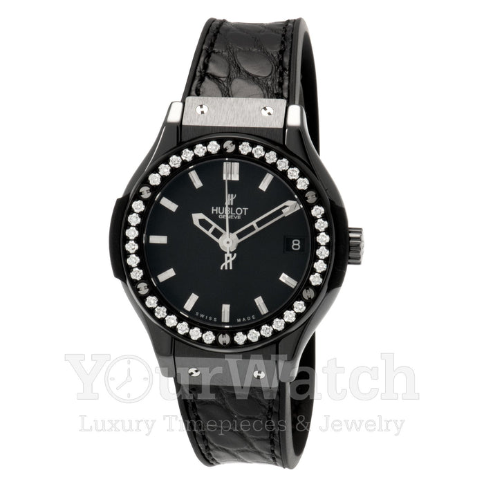 Hublot Classic Fusion Quartz Ceramic 33mm Ladies Watch