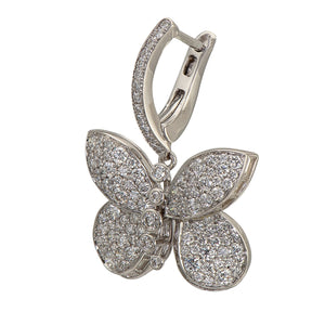 Graff Baby Princess Butterfly Earrings With Pave Diamonds