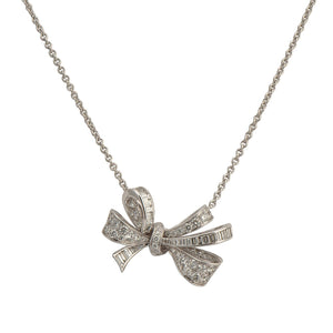 Graff Diamond Bow Pendant on a Chain RGP564