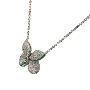 Graff Princess Butterfly Diamond and Emerald Pendant