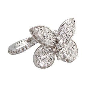 Graff Butterfly Ring with Pave Diamonds