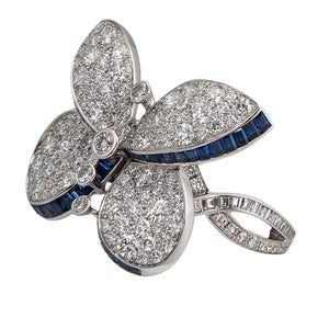 Graff Princess Butterfly Ring with Sapphires And Diamonds