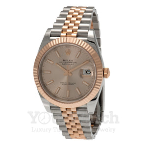 Rolex Datejust Everose Gold Two Tone Bracelet 41mm Mens Watch
