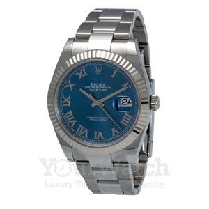 Rolex Datejust Stainless Steel Blue Dial 41mm Mens Watch
