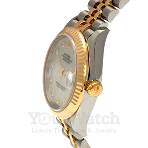 Rolex Datejust Two Tone Bracelet Mother of Pearl Dial 31mm Ladies Watch