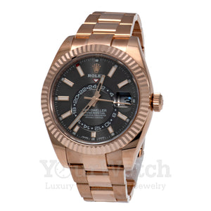Rolex Sky Dweller Everose Gold 42mm Mens Watch