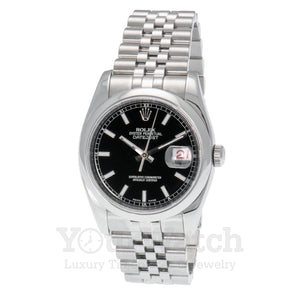 Rolex 116200 Datejust Stainless Steel Black Dial 36mm Watch