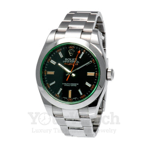 Rolex 116400GV Milgauss Z-Blue Stainless Steel 40mm Mens Watch