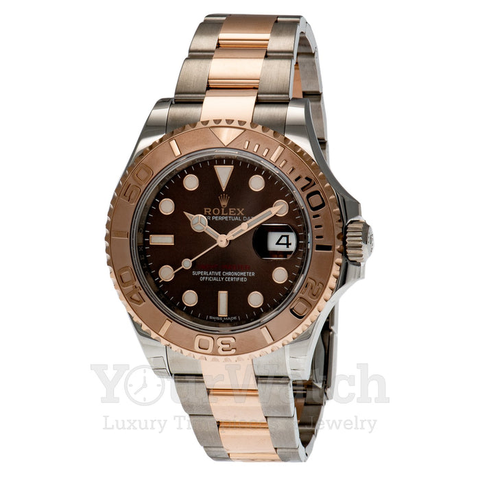 Rolex Date Yacht Master Everose Gold Two Tone Bracelet 40mm Mens Watch