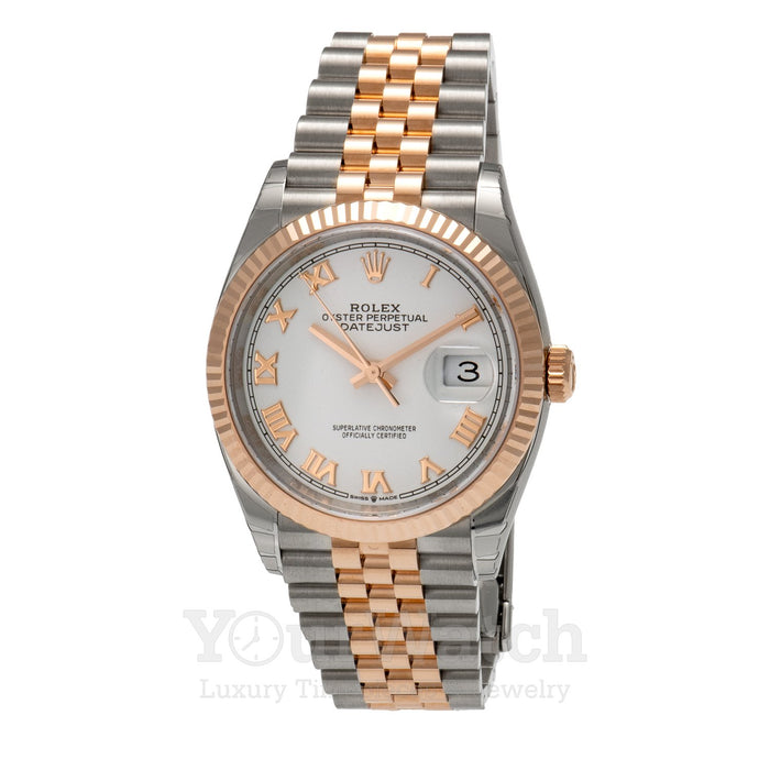 Rolex Datejust Everose Gold Two Tone Bracelet 36mm Watch