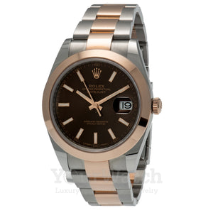 Rolex 126301 Datejust Everose Gold Two Tone Bracelet 41mm Mens Watch