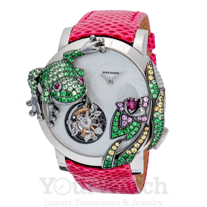 Crazy Jungle Frog Watch With Mother of Pearl Dial