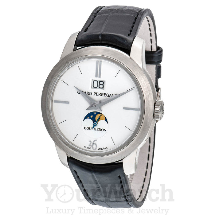 Boucheron Hommage Moonphase White Gold Watch