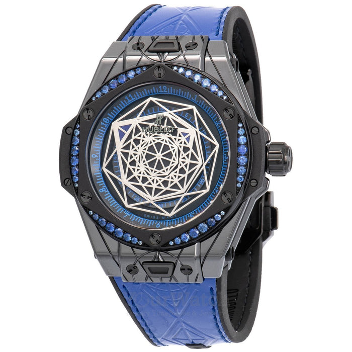 Hublot Big Bang Sang Bleu All Black Blue 39mm Mens Watch