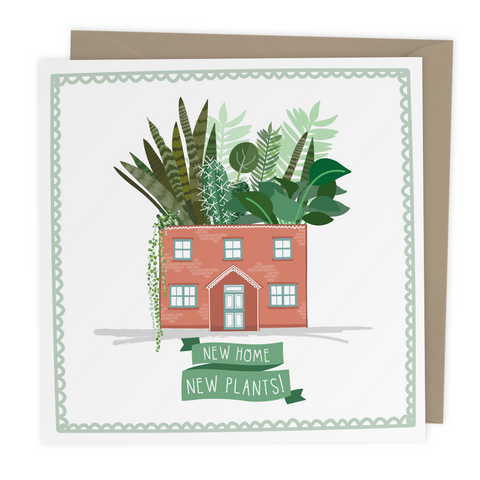 New Home New Plants card - Two For Joy Illustration