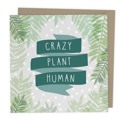 Crazy Plant Human card - Two For Joy Illustration