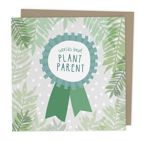 Worlds Best Plant Parent card - Two For Joy Illustration