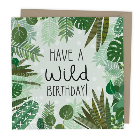 Have a Wild Birthday Greeting card - Two For Joy Illustration