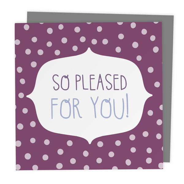 So Pleased For You! Polkadot Greeting Card - Two For Joy Illustration