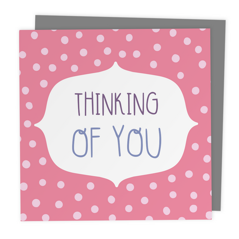 Thinking of You Polkadot Greeting Card - Two For Joy Illustration