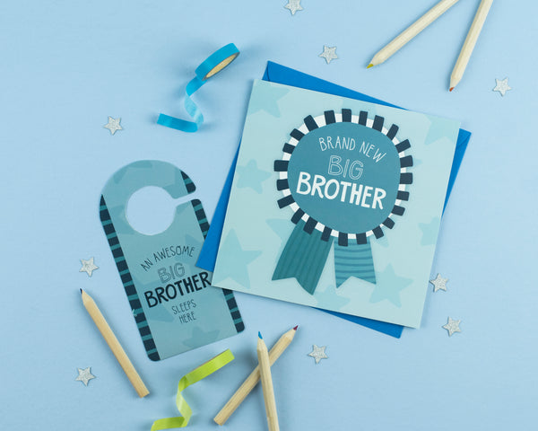 New Big Brother Card with Cut out crafty activity - Two For Joy Illustration