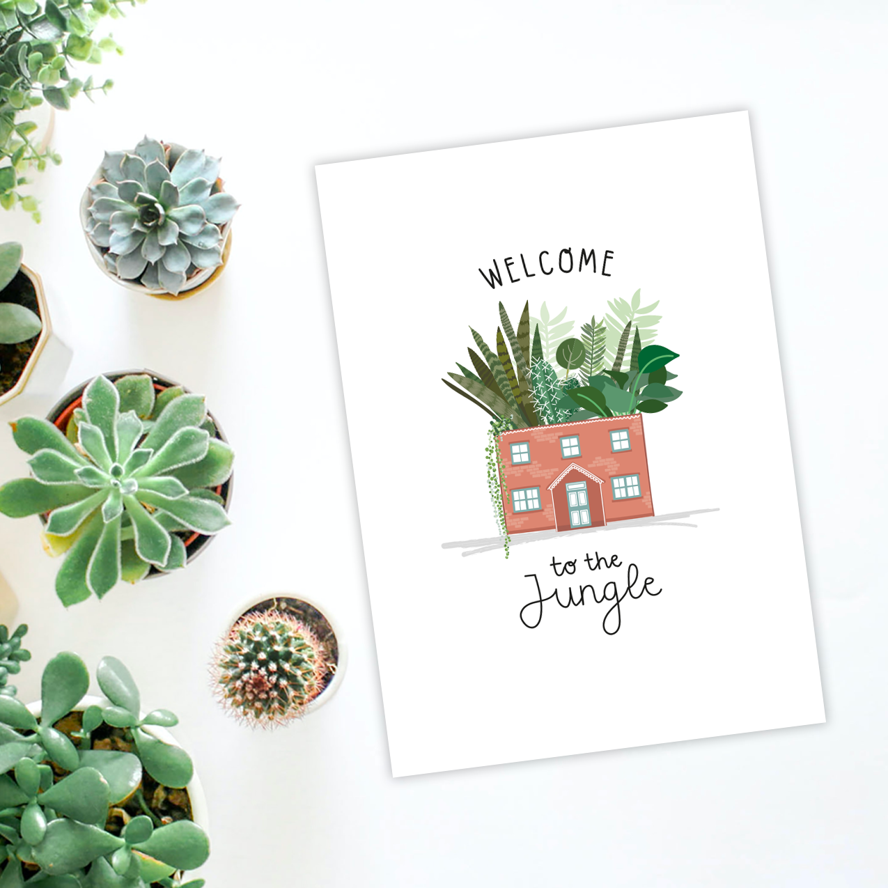 Welcome to the Jungle Leafy A4 Print - Two For Joy Illustration