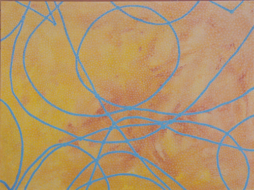 David Ward Original Painting | Yellow Abstract