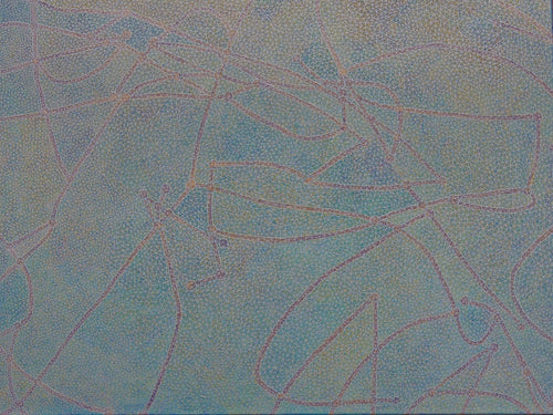 David Ward Original Painting | Blue Grey Abstract