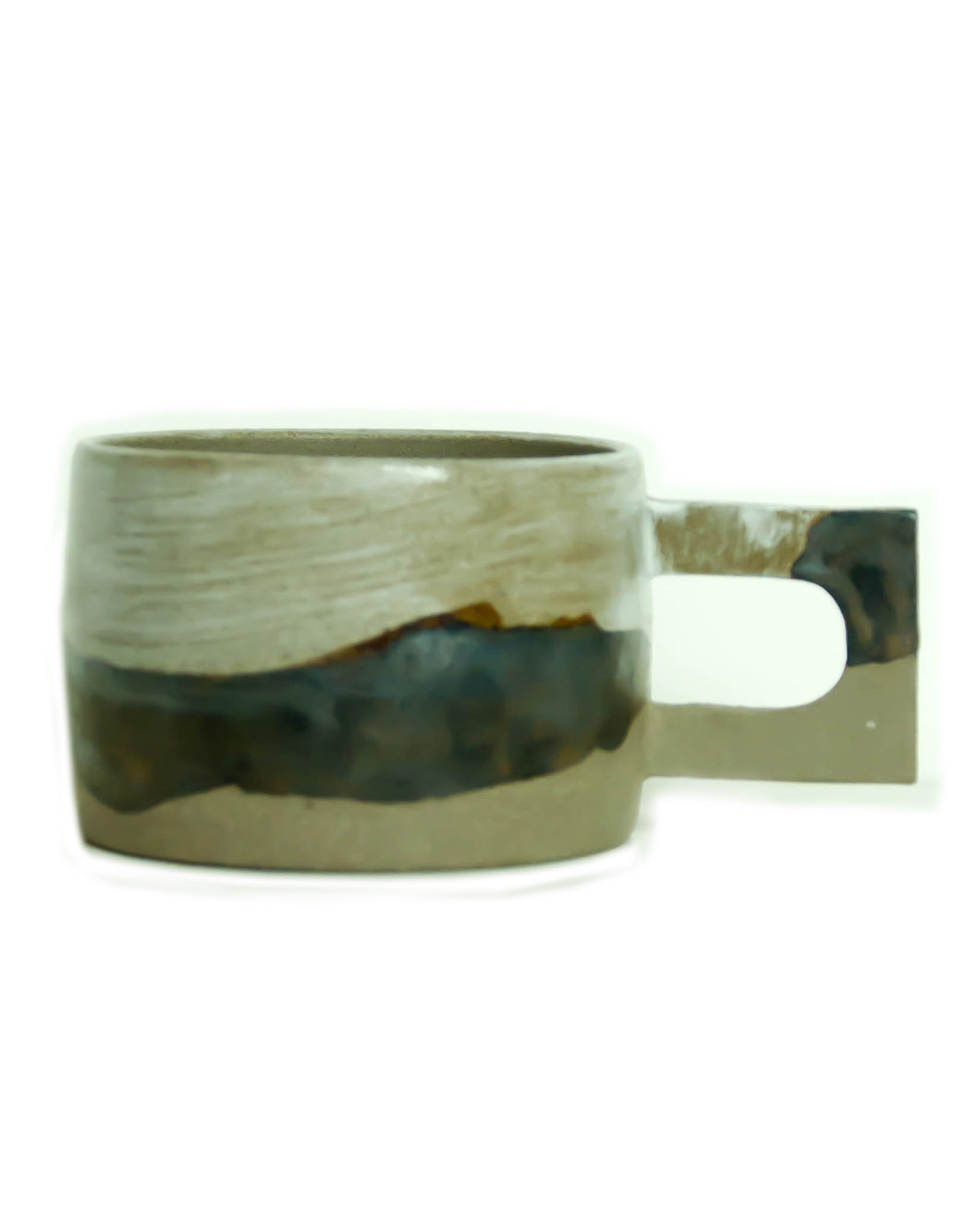 Kibi Ceramic Mug | Mountain | Square Handle - Elliott St.