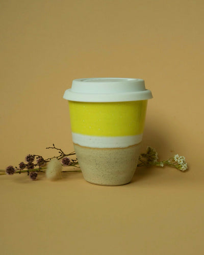 Ceramic Travel Cup | Silicone Lid | Yellow - Elliott St.