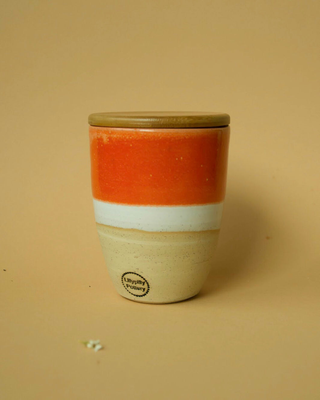Ceramic Travel Cup | Bamboo Lid | Orange - Elliott St.