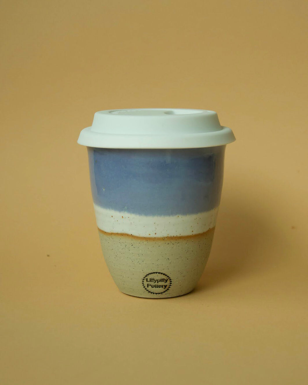 Ceramic Travel Cup | Silicone Lid | Blue - Elliott St.