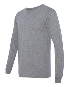 Tri-Blend Mens Long Sleeve Crewneck