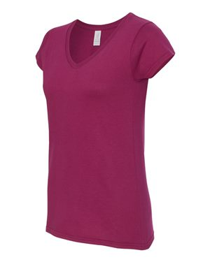 Ladies' SoftStyle® Fitted V-Neck T-Shirt