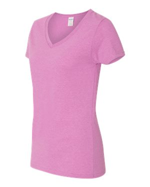 Ladies' Heavy Cotton™ V-Neck T-Shirt