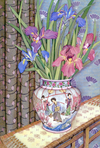Irises In Ming Jar