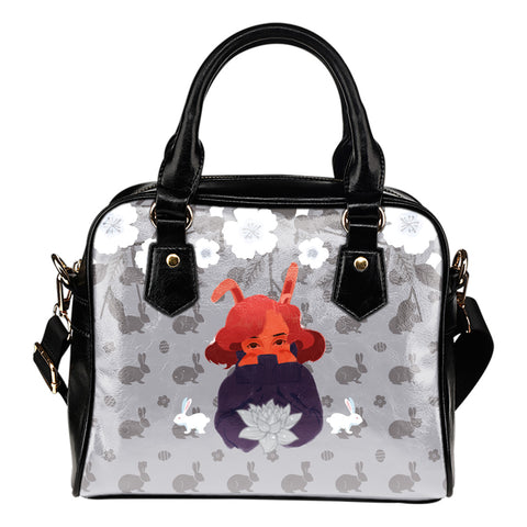 Bunny-Girl-Gray-01 Shoulder Handbag